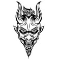 devil with long horns and scare face vector image vector image