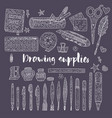 drawing accessories outline set vector image vector image
