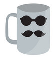 empty coffee mug with hispter icons vector image