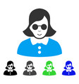 enjoy blind woman icon vector image
