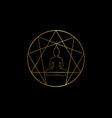 enneagram yoga logo design sacred geometry icon vector image vector image