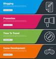 Flat Design Concept Set of Web Banners Blogging vector image