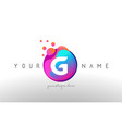 g dots letter logo with bubbles a letter design vector image vector image