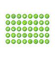 game button templates green vector image
