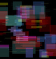 glitch elements set digital pixel noise color vector image