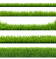 green grass borders set background vector image
