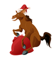 happy new horse vector image vector image