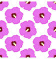 hibiscus pink floral seamless pattern vector image vector image