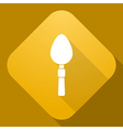 icon of Spoon with a long shadow vector image vector image