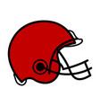 isolated football helmet icon vector image