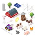 Isometric 3d farm set Farm animals