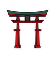 japanese temple building vector image