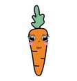 Kawaii cute tender carrot vegetable