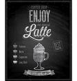 latte chalk vector image vector image