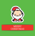 Little baby dressed in adorable Christmas costumes vector image vector image