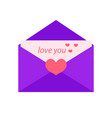 love letter flat design isolated on white vector image