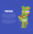 map portugal banner template with space vector image