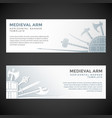 medieval cold steel arms banners vector image vector image