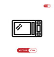 microwave oven icon vector image vector image
