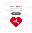 national heart month concept in flat style vector image