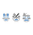 nautical logo origiinal design templates set vector image vector image