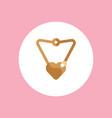 necklace icon sign symbol vector image vector image