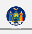 new york round circle flag vector image