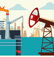 oil industry pump jack platform production in the vector image