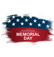 on usa national memorial day usa vector image vector image