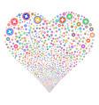 pharmacy fireworks heart vector image vector image