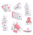 playing cards realistic sets vector image vector image