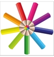 rainbow multicolored pencils for your vector image vector image