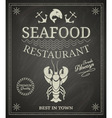 Seafood restaurant poster vector image vector image