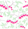 Seamless floral pattern background flowers ornamen vector image vector image
