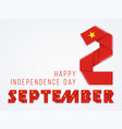 september 2 vietnam national day congratulatory vector image vector image
