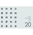 Set of documents and files icons vector image