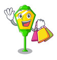shopping lamp post in isolated on mascot vector image vector image