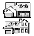 single family house set vector image