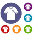 soccer shirt icons set vector image vector image