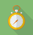 Stopwatch icon Modern Flat style with a long vector image vector image