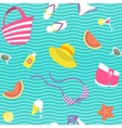 Summer vacation flat style seamless vector image vector image