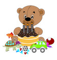 teddy with tie teddy bear vector image vector image