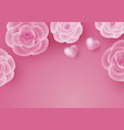 valentines day card design of rose flower vector image