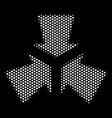 white pixel shrink arrows icon vector image vector image