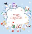 winter holidays snowman vector image vector image