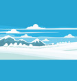 winter landscape field in the snow mountains vector image