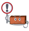 with sign brick character cartoon style vector image