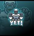 yeti esport mascot logo design vector image