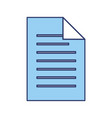 blue sheet of paper vector image