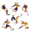 football soccer player set of isolated faceless vector image